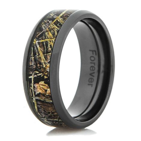 Men's Black Zirconium Realtree® Max-4 Camo Ring