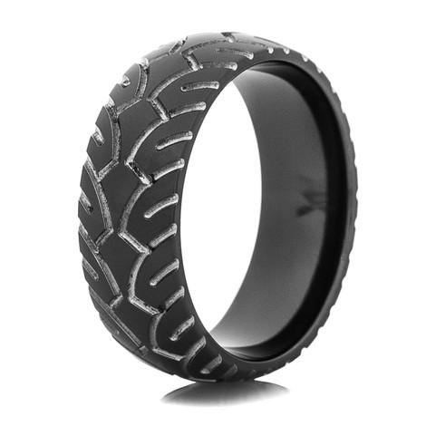 Men's Black Motorcycle Ring