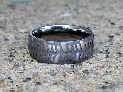 Men's Titanium Mud Bogger Ring