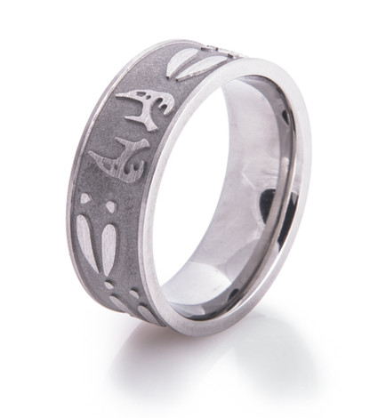 Men's Titanium Buck Fever Wedding Ring