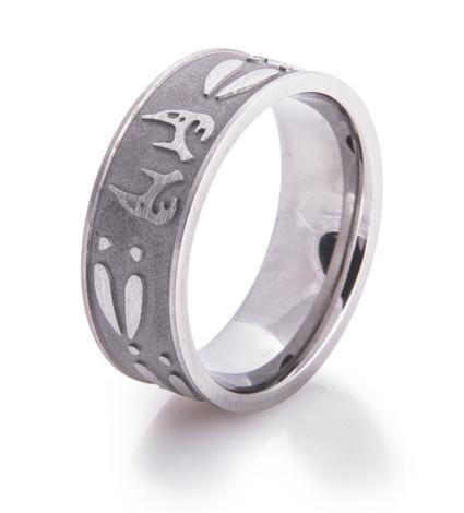 Men's Titanium Buck Fever Wedding Ring
