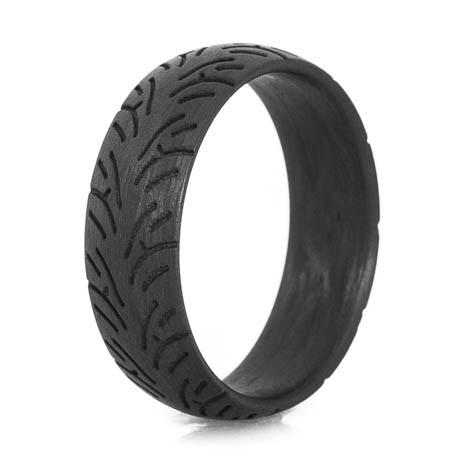 Men's Carbon Fiber Sport Bike Tire Tread Ring
