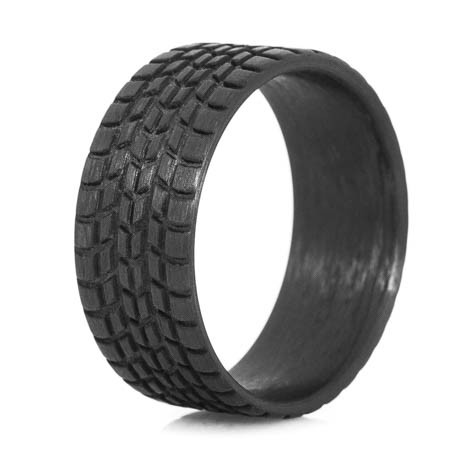 Men's Carbon Fiber Sport Tire Tread Ring