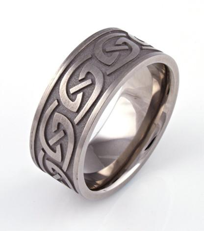 Celtic Carved Wedding Ring