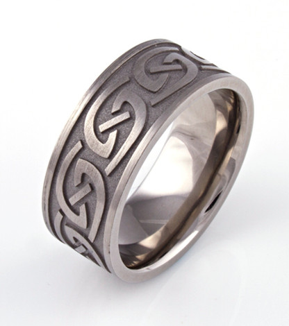Celtic Carved Wedding Ring