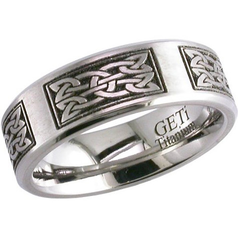Laser Engraved Celtic Knot Ring