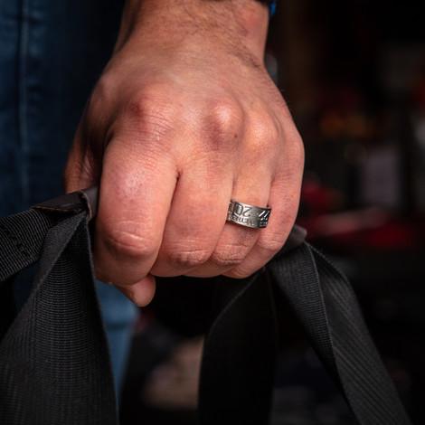 Men's Titanium Banded Together Duck Band Wedding Ring