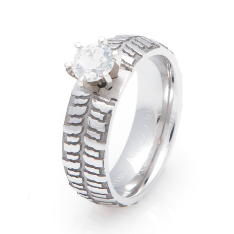 Women's Cobalt Chrome Mud Bogger Engagement Ring