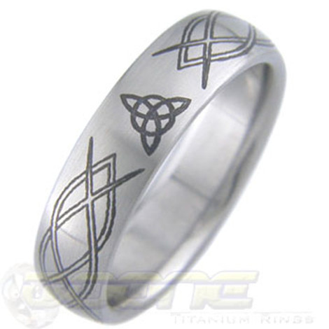 Laser Engraved Custom Titanium Ring