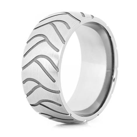 Men's Titanium Super Cycle Motorcycle Ring