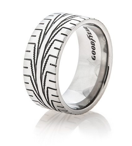 Men's Titanium Goodyear Assurance Tread Ring