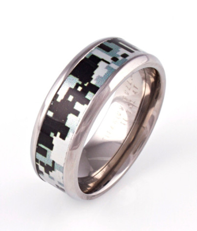 Men's Titanium Digital Camo Ring