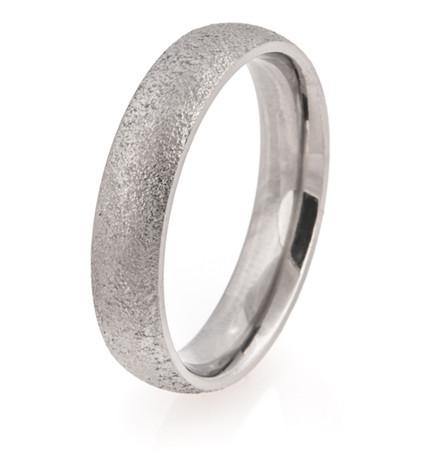 Dome Profile Arctic Titanium Ring