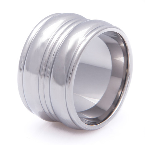 Double Trouble Titanium Ring