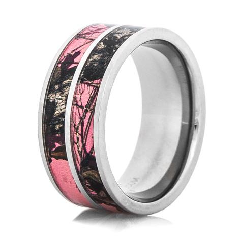 Women's Dual Pink Mossy Oak Ring