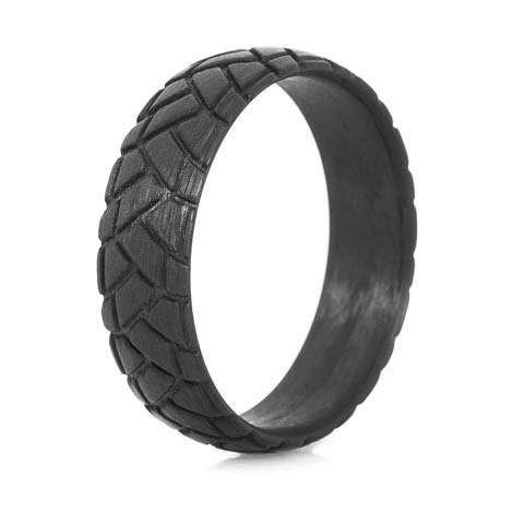 Men's Carbon Fiber Dual Sport Tire Tread Ring