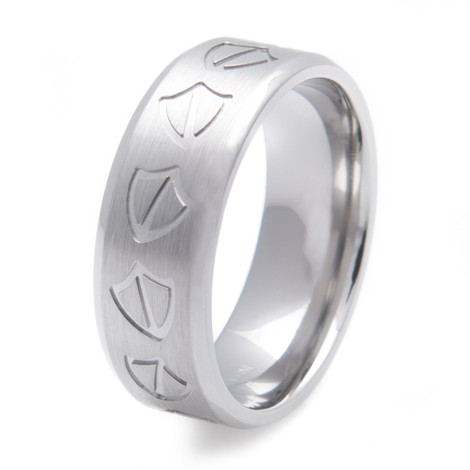 Men's Titanium Duck Tracks Ring