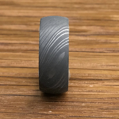 Men's Extra Wide Damascus Steel Band