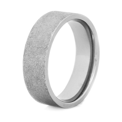 Men's Flat Profile Gunmetal Titanium Ring