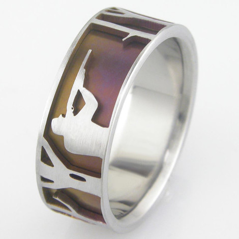 Men's Titanium Big Hunt Ring
