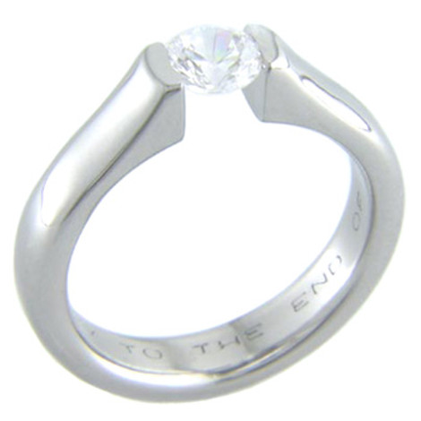 Women's Titanium Fusion Tension Set Ring