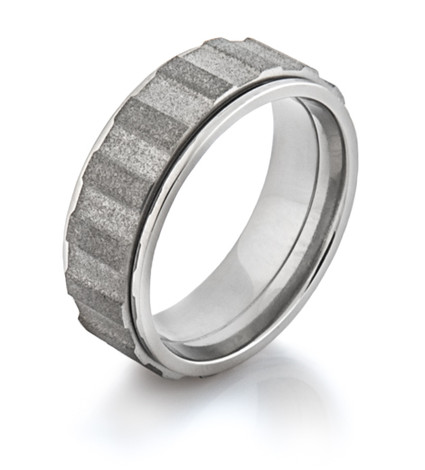 Men's Titanium Spinning Gear Ring