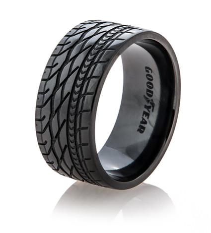 Men's Black Goodyear Eagle Tire Tread Band