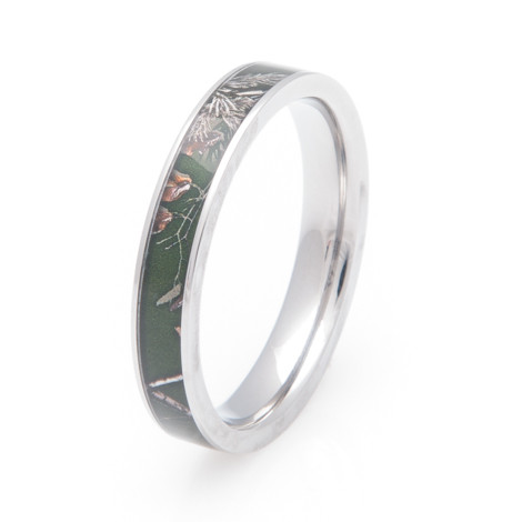 Women's Titanium Realtree® AP Green Camo Wedding Ring