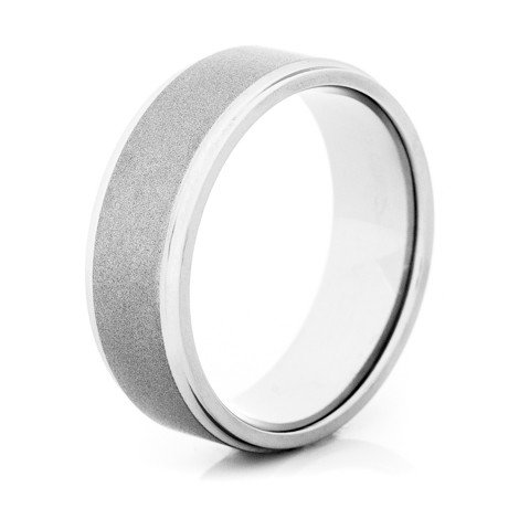 Men's Gunmetal Titanium Two-Step Wedding Band