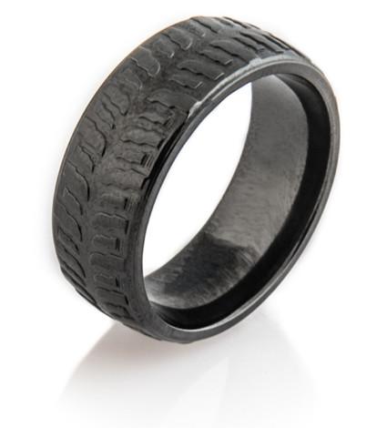 Men's Black Polished Mud Bogger Ring
