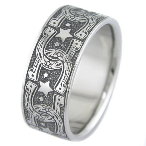 Titanium Horseshoe Wedding Ring