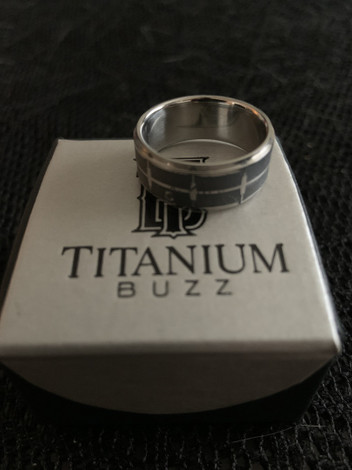 Laser Engraved Titanium Snare Drum Ring