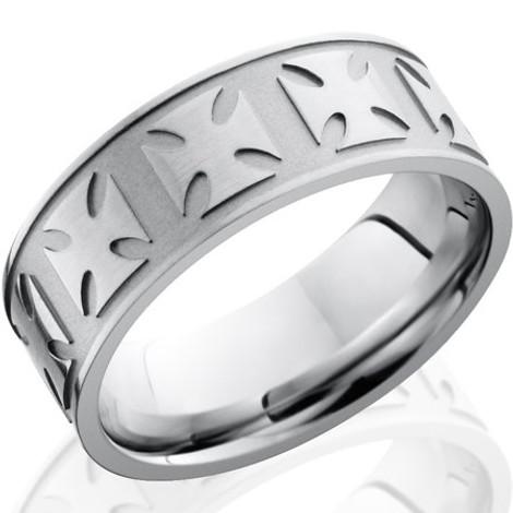 Men's Cobalt Chrome Maltese Cross Ring