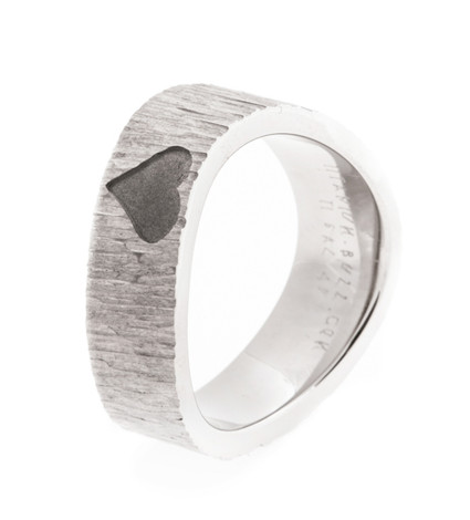 Women's Titanium Rustic Love Ring