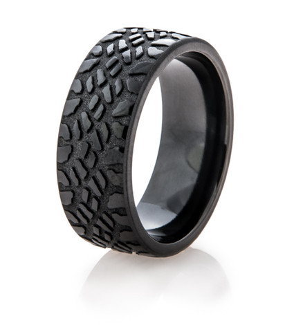 Men's Black Goodyear Duratrac Mud Tire Ring