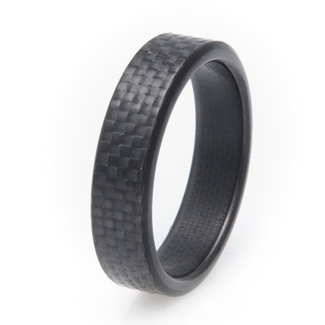 Men's Narrow 6mm Kilo Design Carbon Fiber Ring