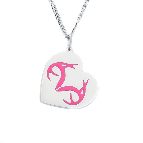 Women's Realtree Heart Pink Pendant Necklace