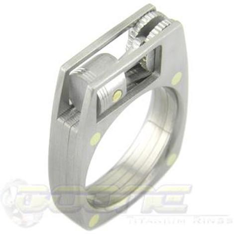 Men's Titanium Working Piston Ring