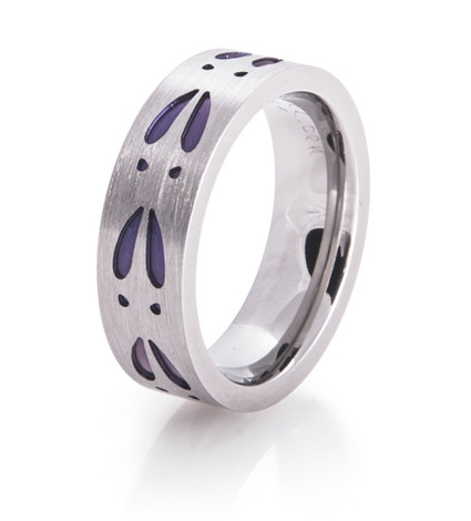 Women's Purple Deer Track Ring