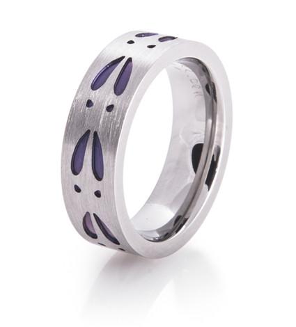 Women's Purple Deer Track Ring