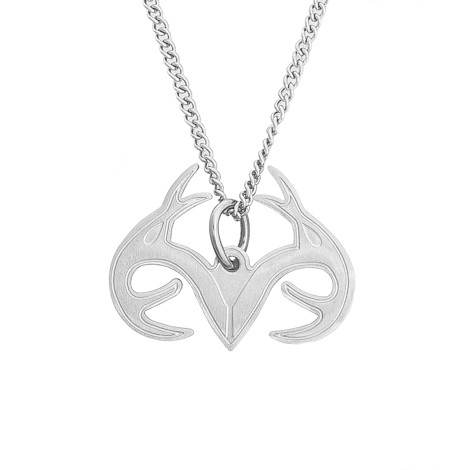 Stainless Steel Realtree Antler Necklace