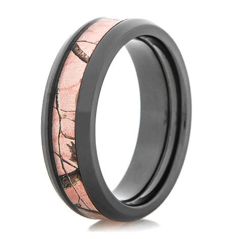Women's Black Zirconium Realtree® AP Pink Camo Ring