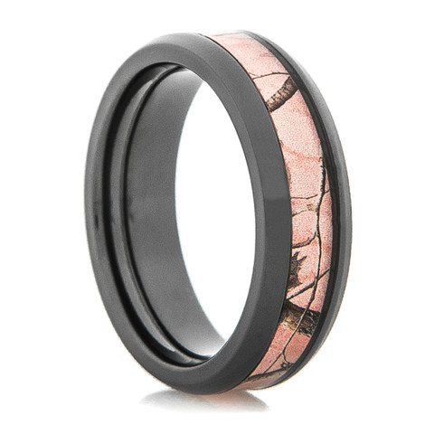 Women's Black Zirconium Realtree® AP Pink Camo Ring
