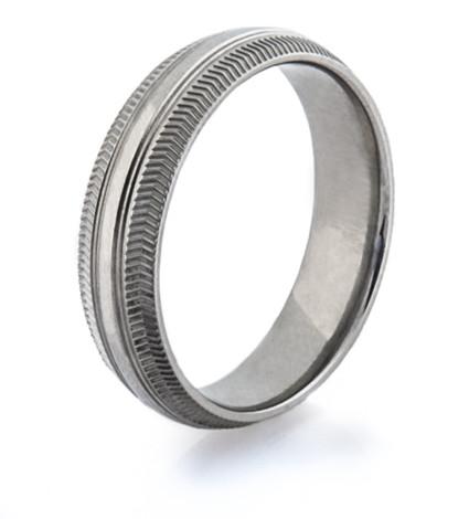 Men's Titanium Road Bike Wedding Ring