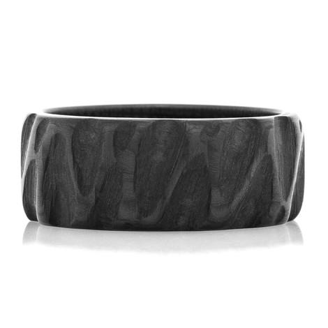 Standard Width Carbon Fiber Rock Finish Ring