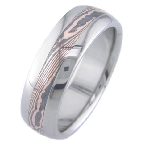 Rose Gold Twist Shakudo Ring