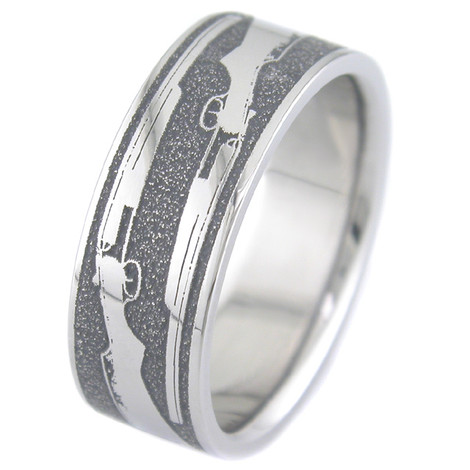 Men's Titanium  Shotgun Wedding Ring
