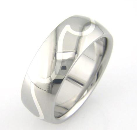 Silver Wave Titanium Ring