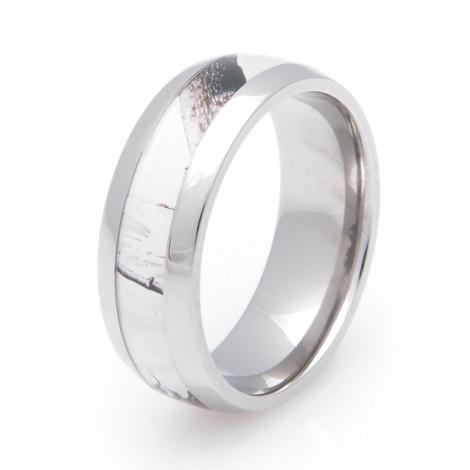 Men's Titanium Realtree® AP Snow Camo Wedding Ring