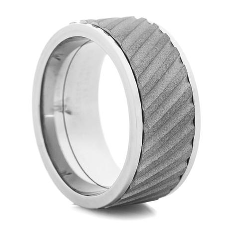 Men's Titanium Spinner Ring